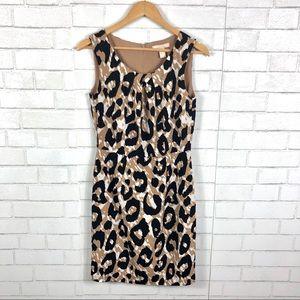Banana Republic Leopard Print Sheath Dress